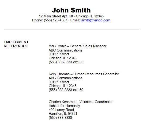 resume character reference   Www qhtypm Example Resume  References For Resume Template  Reference Resume       resume reference